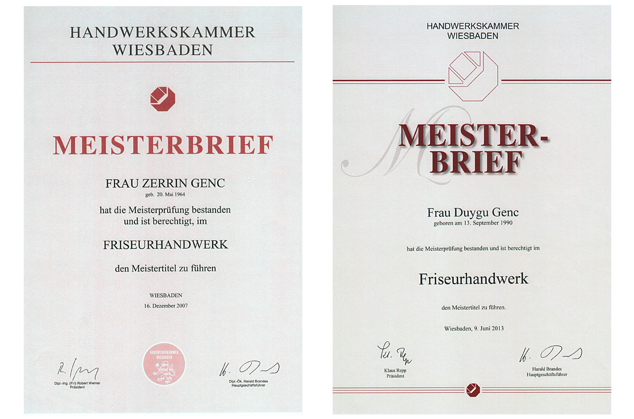 aktuell Friseur Meisterbrief